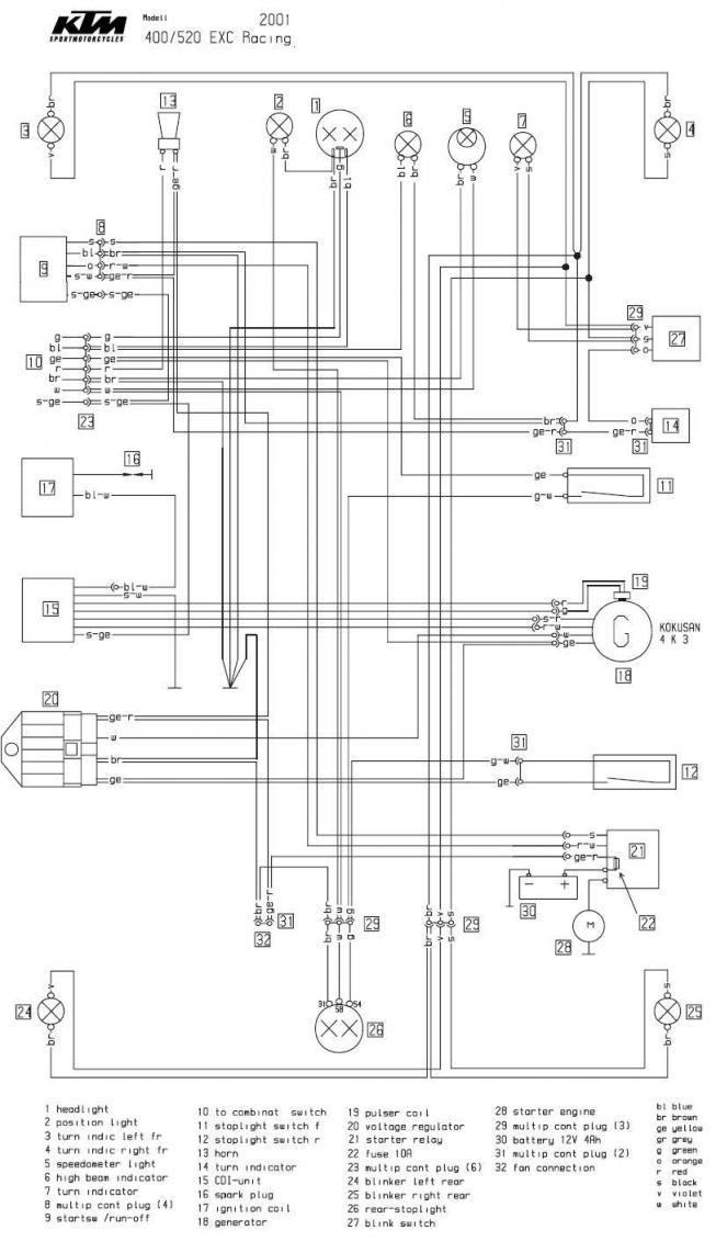 2018 ktm 300 xc w wiring diagram wiring diagram and