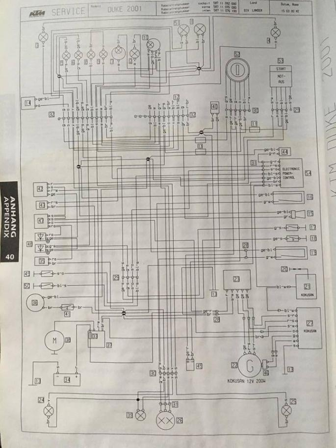 2001 Ktm 400 Wiring Diagram