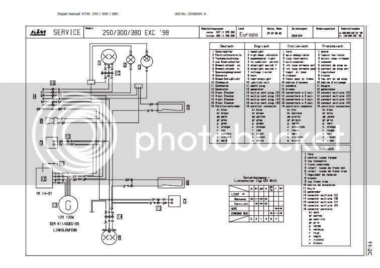 Wiring Help On 1994 Ktm Exc 250