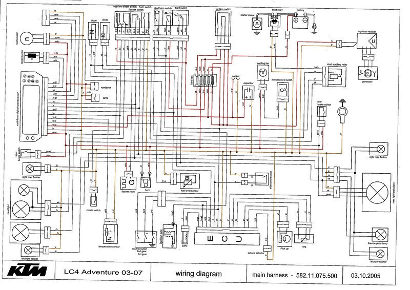 2004 625 front wire loom issues | KTM Forums Yamaha Tt Wiring Diagram on