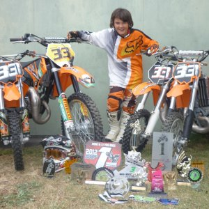 End of 2012 with 4 bikes! (Vinny was now 11yo)