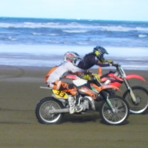 Beach Racing on the 2009 85sx